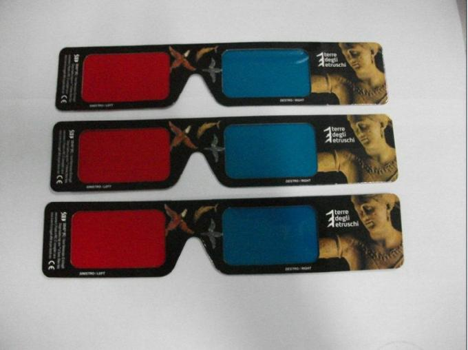 Polarized Chromadetph Paper Anaglyph 3D Glasses Red Blue For 3D Picture