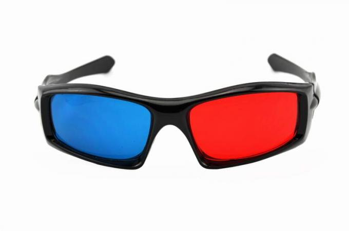 Plastic Frame Red Cyan Anaglyph 3D Glasses For Normal TV 3D Movies