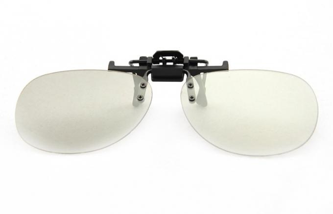 Convenient Clip Active Shutter Glasses Circular Polarized With No Bubble