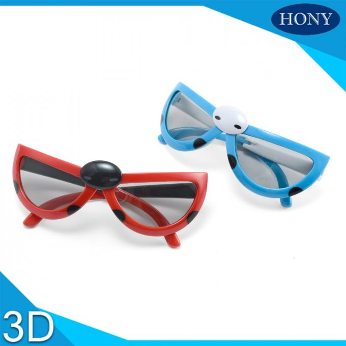 Kids Folding Model Linear Polarised 3d Glasses With 0.7mm Thicknesss Lens