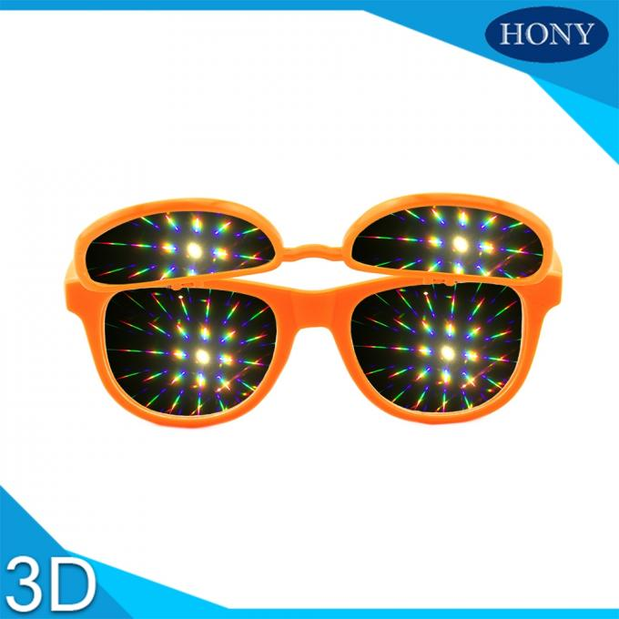 PH0028 Flip Up 3D Diffraction Glasses With CE FCC RoHS Strong Effect Glasses