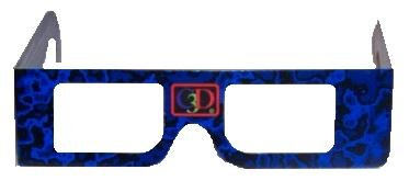 Custom Logo Paper 3D Glasses / Cardboard Three Dimensional Glasses