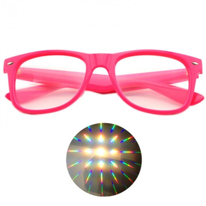 Specialty Diffraction Glasses with logo printed - Rave Eyes Party Club 3D Trippy