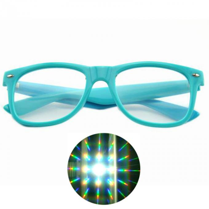Premium 3D Diffraction Glasses Clear Lens 3D Glasses Ideal For Raves , Music Festivals