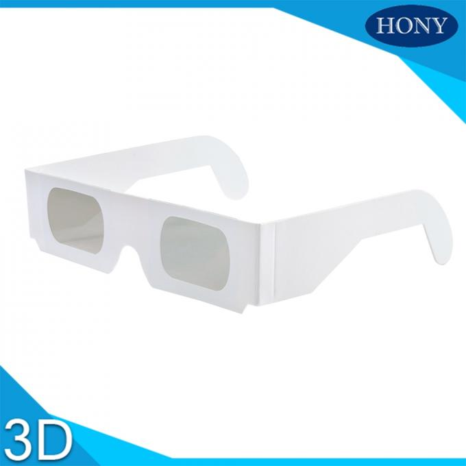 One Time Used Paper Frame Linear Polarzed Glasses For Imax System