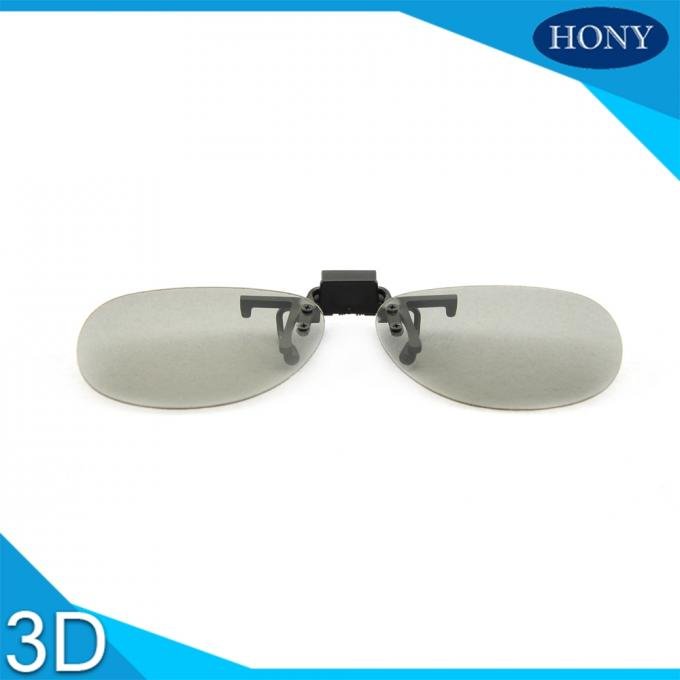 Clip On Plastic Circular Polarized 3d Glasses For Theaters Flicker Free