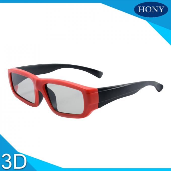 Plastic Circular Polariztion 3D Glasses For Passive Cinema Used Kids Use