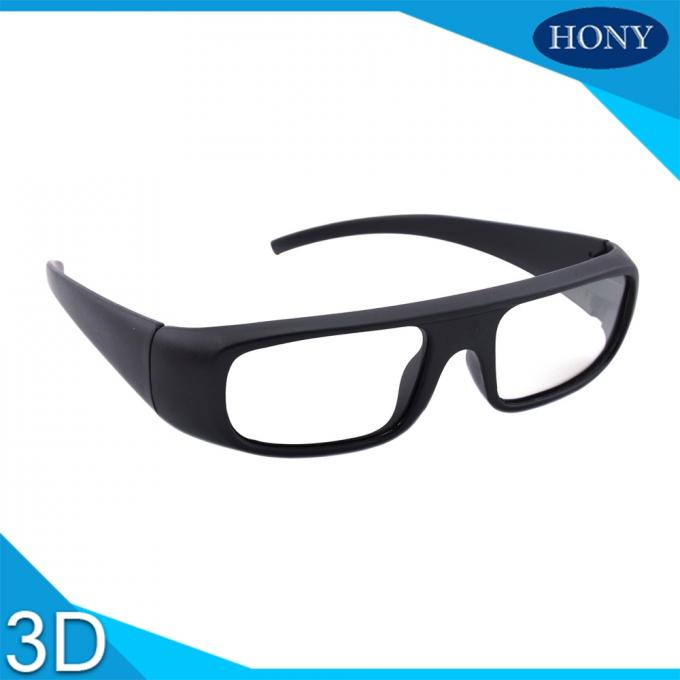 Hard Coating Frame Anti Scratch Passive 3D Glasses For Movie Theater Use