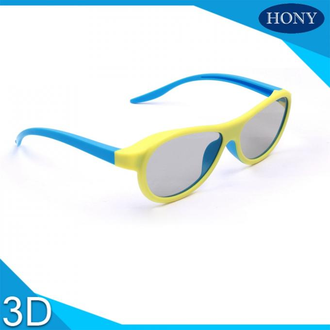 Adult  Passive Cinema 3D Glasses Linear Polarized Lens With Blue / Yellow Color