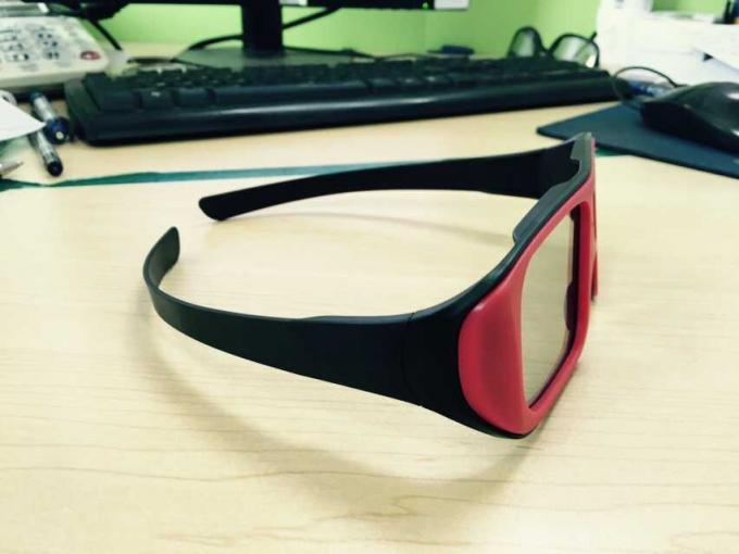 Unfolded Big Frame Linear Polarized 3D Glasses 0.23mm Lens Custom Color