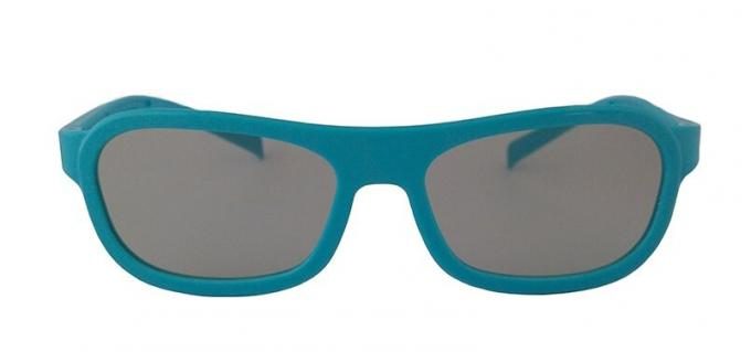 Cinema ABS Linear Polarized 3D Glasses , 3D Movie Glasses With Blue Frame