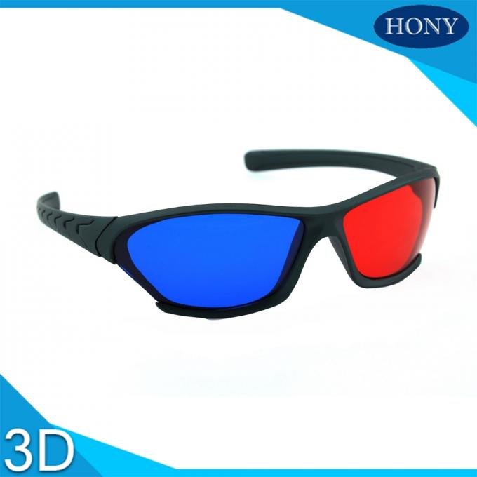 Adult Size Red Cyan 3D Glasses Thick Lenses Customized Frame Color
