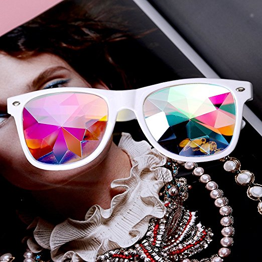 Google Kaleidoscope Glasses For Holiday Rave Party Christma Music Festival Use