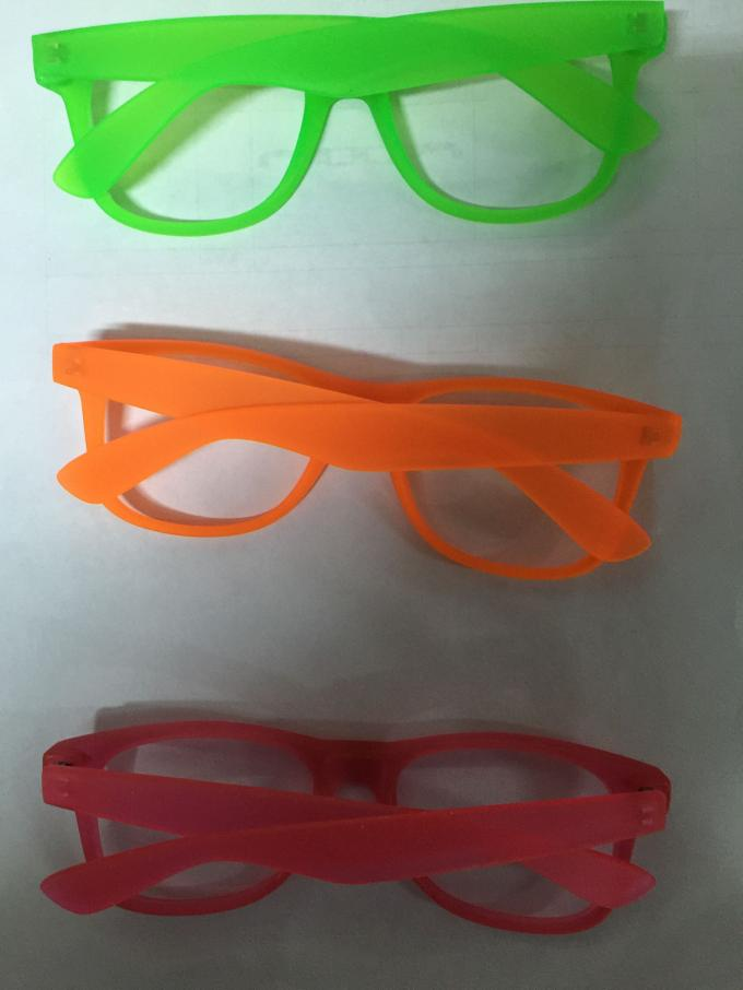 Fluorescence 3d Diffraction Glasses With Pc Clear Diffraction Lens Eco Friendly