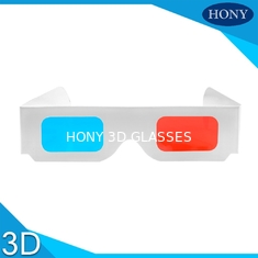 China Popular anaglyph 3d glasses red cyan For Normal PC / 3D Books And 3D Magazines supplier