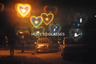 China Heart Diffraction Glasses Rainbow Paper Glasses 250g Customzed Printing supplier