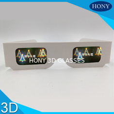 China Christmas Tree Diffraction 3D Fireworks Glasses For Party , CE / Rohs / SGS supplier