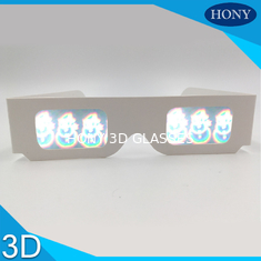 China PVC Circular Polarized 3D Glasses For Entertainment , Snow Man Diffraction Effect supplier