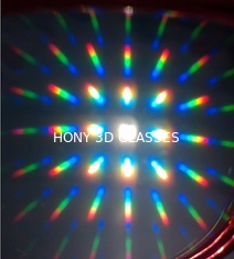 China Colorful 3D Fireworks Glasses Screen Printing , Plastic 3D Glasses supplier