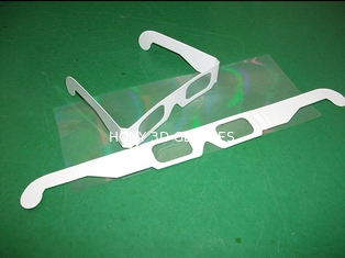 China Flip Clip Style Plastic 3D Fireworks Glasses 4C CIS Paper Frame supplier