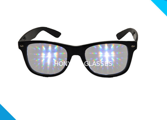 China Rainbow Spiral Plastic 3d Diffraction Glasses For New Year Rave Parties supplier