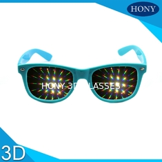 China Trendy Flip Clip 3D Fireworks Glasses With Diffraction Lenses OEM / ODM supplier