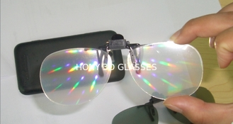 China 2016 TOP New clip on plastic fireworks glasses, rainbow glasses, diffraction glasses for near-sighted person supplier