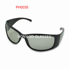 China Imax Cinema Black Linear Polarized 3D Glasses With 0.72mm Lenses supplier