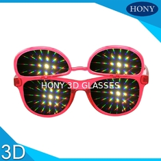 China PH0028 Flip Up 3D Diffraction Glasses With CE FCC RoHS Strong Effect Glasses supplier