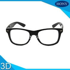 China Cinema White Circular Polarized 3D Glasses foldable arms WITH Anti UV supplier