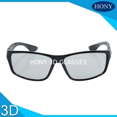 China Stylish Passive Plastic Circular Polarized 3D Glasses For LG TV Flicker Free supplier