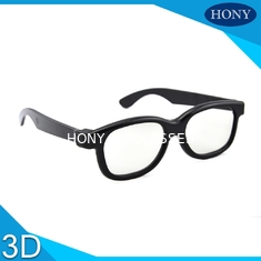 China Plastic Circular Polarized 3D Glasses For Movies With Different Color Frame supplier