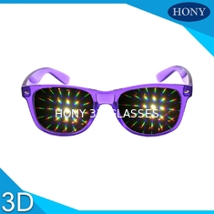 China PVC Materials thicker lens 3D Diffraction Glasses For Party / 3d firework glasses supplier