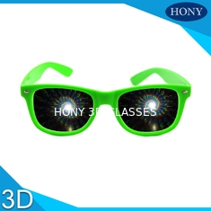 China Party 3D Diffraction Glasses spiral diffraction effect fireworks 3d glasses supplier
