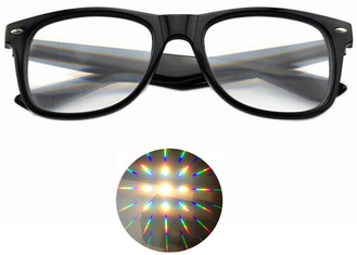 China Premium Diffraction Prism Rave Glasses Rainbow Glasses For New Year Holidays Parties supplier