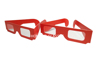 China Custom Logo Paper 3D Glasses / Cardboard Three Dimensional Glasses supplier
