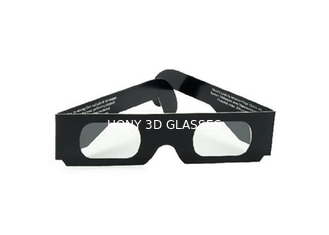 China Durable Paper 3D Glasses Changing Lights With Spectrum Separated , Free Sample supplier