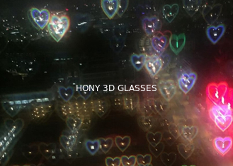 Customized Hearts Diffraction Glasses 3D Fireworks Glasses with logo printed