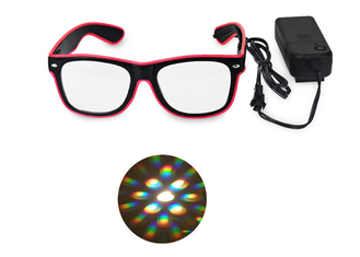 China El Wire Glow Led DJ Bright Light Safety Light Up LED flashing Diffraction glasses supplier