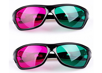 China Cinema Plastic Anaglyph 3D Glasses Linear Polarized With Anti Scratch Lenses supplier