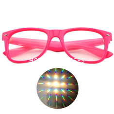 China Specialty Diffraction Glasses with logo printed - Rave Eyes Party Club 3D Trippy supplier