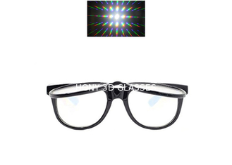 China Plastic Double Fireworks 3D Diffraction Glasses For Christmas Laser Show & Funny Party supplier