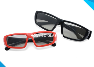 China Adult & Kids Custom Printed Plastic Circular Real D Polarized 3D Glasses supplier