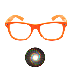 China Print your Logo Plastic Diffraction Glasses Spiral Rave Fireworks Glasses supplier