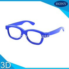 Cinema Disposable 3D Glasses Kids Frame With Circular Polarized Lenses One Time Use