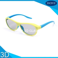 China Real D Plastic 3D Glasses For Adults Blue Orange Yellow Movie Theater Glasses supplier