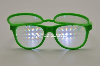 China Plastic Frame 3D Firewowks Flip Up Glasses Double Diffraction Effect supplier
