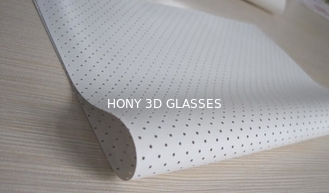 China 2D White Perforated Metal Screen Both Side Flat Steel Frame For Dobly System supplier