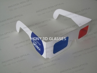 China Paper Frame Anaglyph 3D Glasses Red And Blue For Home Theater supplier