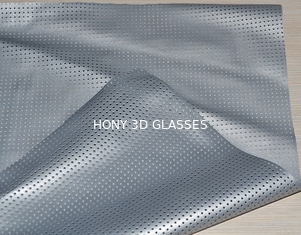 China Portable Silver Projection Screen For 3D Movie , Perforation Waterproof supplier